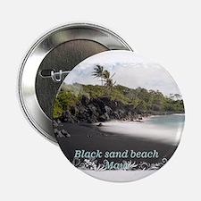 """Black sand beach 2.25"""" Button"""