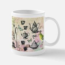 Vintage French Garden tea party Small Small Mug