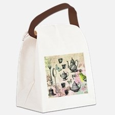 Vintage French Garden tea party Canvas Lunch Bag