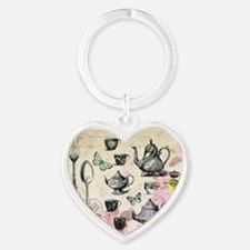 Vintage French Garden tea party Keychains