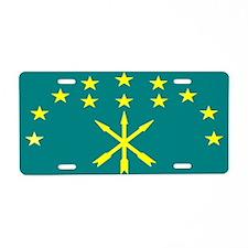 Circassian Israeli flag Aluminum License Plate