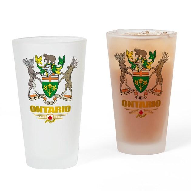 Baby Gift Baskets Hamilton Ontario : Ontario coa drinking glass by flagamericas