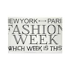 Fashion Week, New York or Paris? Rectangle Magnet