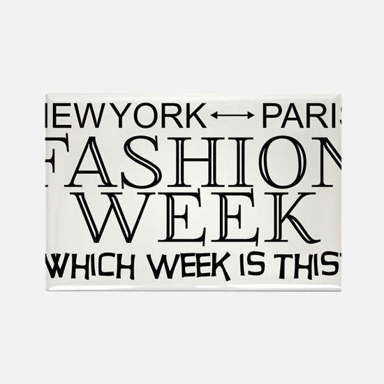 Fashion Week, New York or Paris? Rectangle Magnet