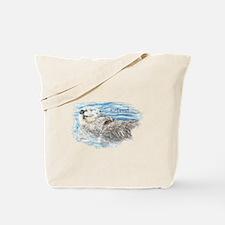 Cute Watercolor Retired Otter Animal Tote Bag