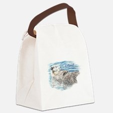 Cute Watercolor Retired Otter Animal Canvas Lunch