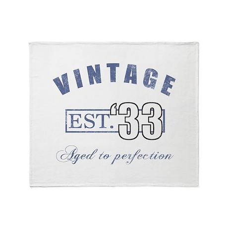 1933 Vintage Est. Throw Blanket