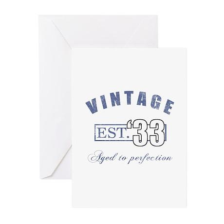 1933 Vintage Est. Greeting Cards (Pk of 10)