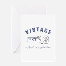 1943 Vintage Est. Greeting Card