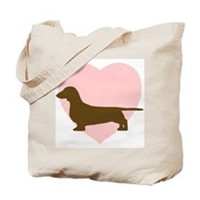 Dachshund Heart Tote Bag