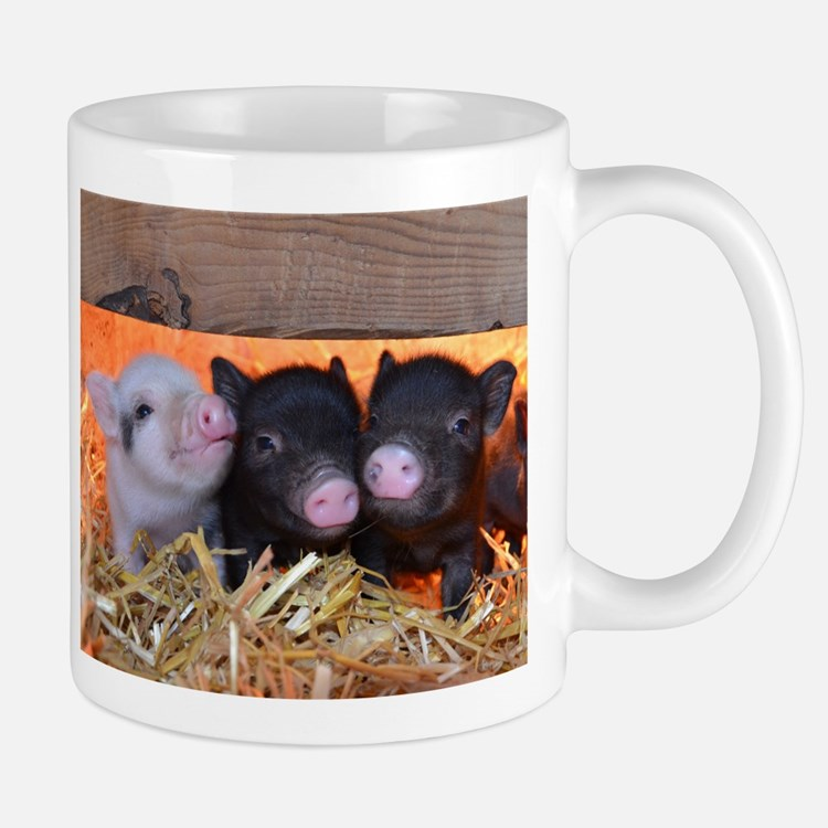 Three Little Piggies Small Mug