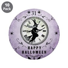 "Modern Vintage Halloween Witching Hour 3.5"" Button"