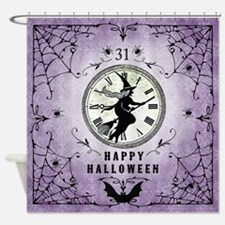 Modern Vintage Halloween Witching Hour Shower Curt