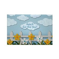 Reach for the Sky Picket Fence Rectangle Magnet