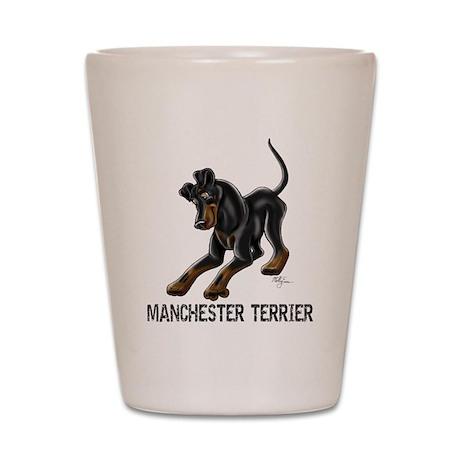 Manchester Terrier - Button Ears Shot Glass
