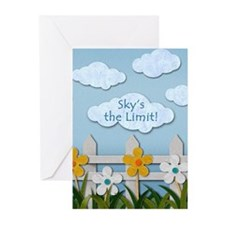 Skys the Limit Picket Fence Greeting Cards (Pk of