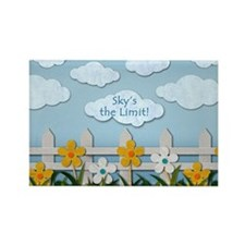 Skys the Limit Picket Fence Rectangle Magnet