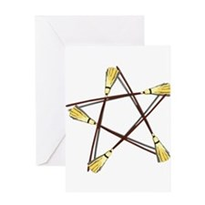 Besom Pentagram.png Greeting Card