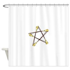 Besom Pentagram.png Shower Curtain
