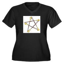 Besom Pentagram.png Plus Size T-Shirt