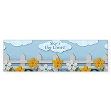 Skys the Limit Picket Fence Bumper Sticker