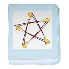 Besom Pentagram.png baby blanket