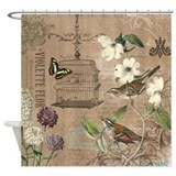 French birds Shower Curtains