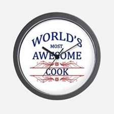 World's Most Awesome Cook Wall Clock