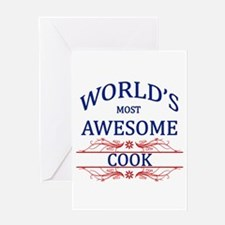 World's Most Awesome Cook Greeting Card