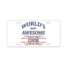 World's Most Awesome Cook Aluminum License Plate
