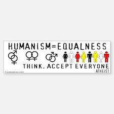 Humanist Equalness Bumper Bumper Bumper Sticker