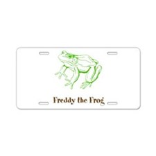 freddy the frog Aluminum License Plate