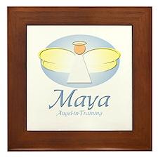 Angel-in-Training - Maya Framed Tile