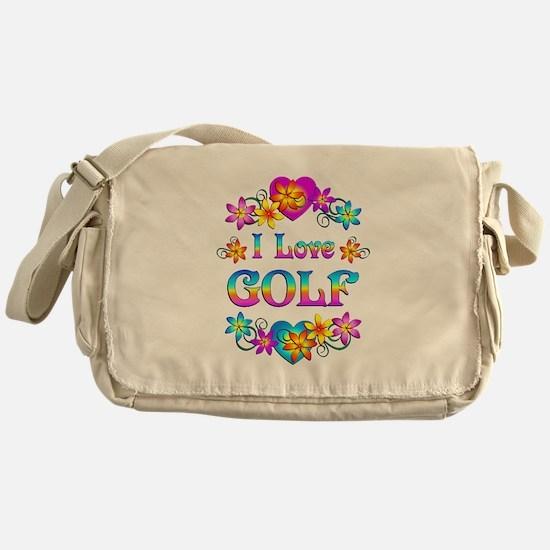 I Love Golf Messenger Bag