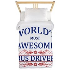 World's Most Awesome Bus Driver Twin Duvet