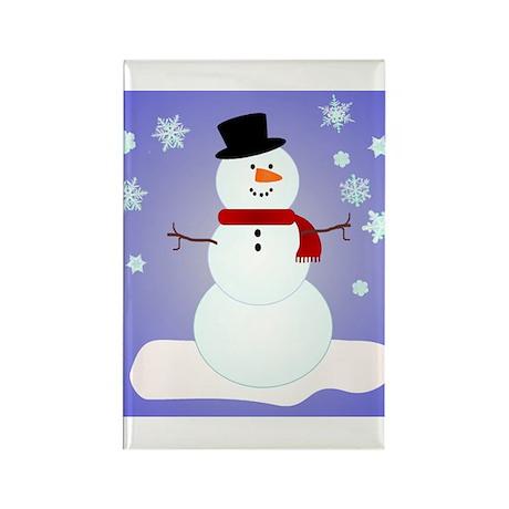 SNOWMAN Rectangle Magnet (10 pack)