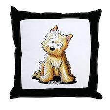 Sitting Cairn Throw Pillow