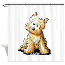 Sitting Cairn Shower Curtain