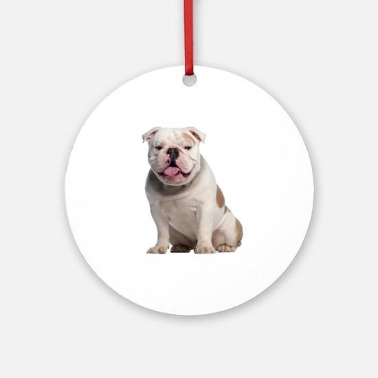 Bulldog Ornament (Round)