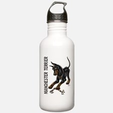 Manchester Terrier - Cropped Water Bottle