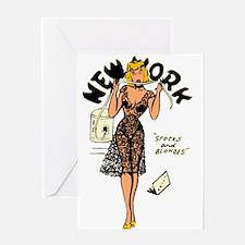 Vintage New York Pinup Greeting Card