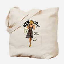Vintage New York Pinup Tote Bag