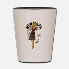 Vintage New York Pinup Shot Glass