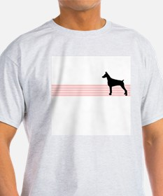 Retro Doberman Pinscher Ash Grey T-Shirt
