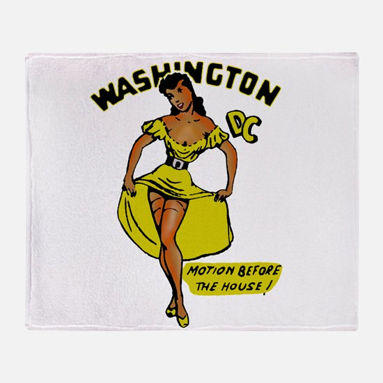 Vintage DC Pinup Throw Blanket
