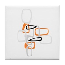Space Age Rectangles Tile Coaster