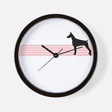 Retro Doberman Pinscher Wall Clock