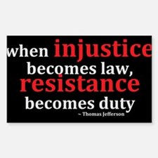 Justice And Resistance Bumper Stickers