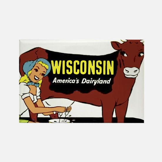 Vintage Wisconsin Dairyland Rectangle Magnet