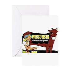 Vintage Wisconsin Dairyland Greeting Card
